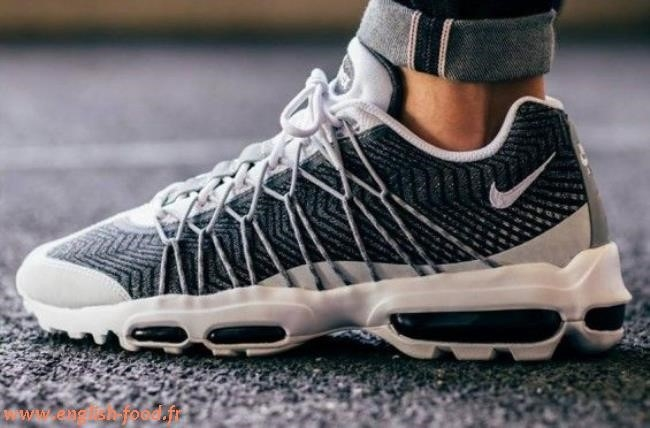 Nike Air Max 95 Ultra Jacquard Pinstripe Black White