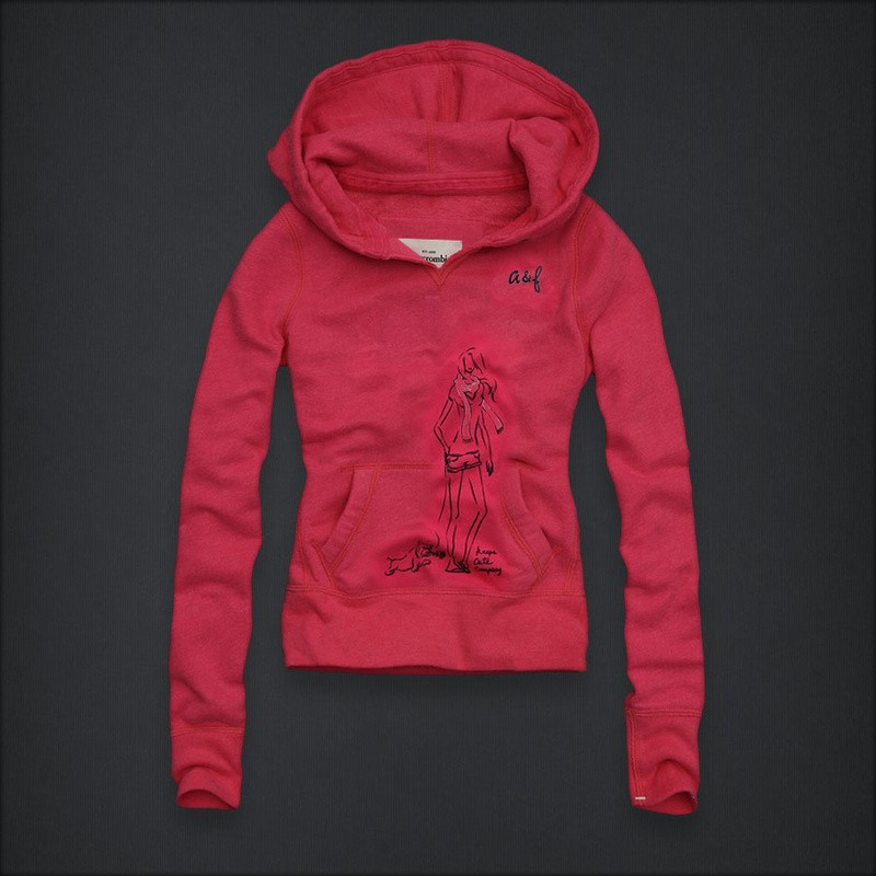 sweat abercrombie rouge femme